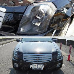 03-07 Cadillac CTS Black Factory Style Replacement Projector Headlight Assembly