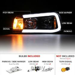 06-10 Dodge Charger Tron Style C-Shape LED Neon Tube Black Projector Headlight