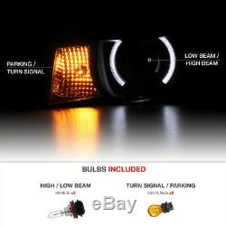 10-13 Chevy Camaro Halo LED DRL Projector Headlight Lamp Replacement Assembly