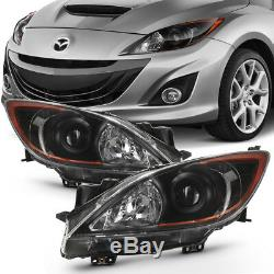 10-13 Mazda3 Factory Style Black Housing Replacement Lamp Headlight Assembly