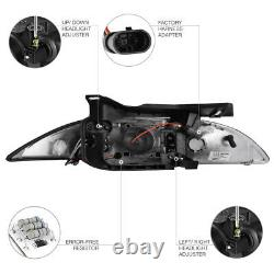 1995-1999 CHEVY CAVALIER Z24/LS/RS 2/4DR Halo Projector Black LED Headlight L+R