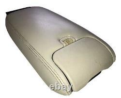 1995-2003 Jaguar XK8 XJ8 XJ6 Center Console Armrest Cup Holder Oatmeal OEM