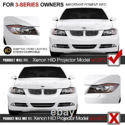 2005-2008 BMW E90 3-Series BI-XENON AFS ADAPTIVE D1S Black Halo Headlight Pair