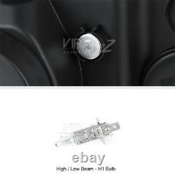2005-2010 Chrysler 300C 300 C LED STRIP DRL Projector Halo Black Headlights Lamp