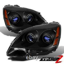 2007-2011 GMC Acadia SL SLE Denali Black Front Headlights Left Right Assembly