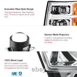 2007-2013 Chevy Silverado TRON STYLE OLED Neon Tube Chrome Projector Headlight