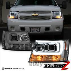 2007-2014 Chevy Suburban Tahoe Avalanche TRON STYLE LED Neon Tube Headlights