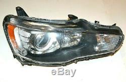 2008-2015 Mitsubishi Lancer Evo X Passenger RH Xenon HID Headlight Headlamp OEM