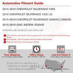 2014-2018 Chevrolet Silverado 1500 SINISTER BLACK Smoke LED Brake Tail Lights