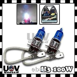 5000K White 2 X H3 100W Headlight 12V Halogen Bulb Replacement Gas Xenon Fog U2