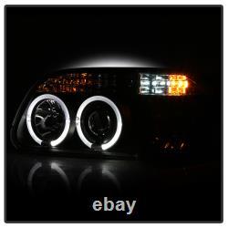 95-01 Ford Explorer Sport Halo LED Projector Black 1PC Headlight+Corner Lamp L+R