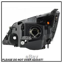 Black Housing Amber Corner For 07-11 Honda CRV Replacement Headlight Assembly