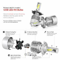 CREE LED Bulb Installed 00-04 Ford Focus Black Replacement Headlight Assembly
