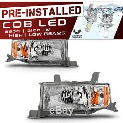 CREE LED Bulb Installed 04-06 Scion xB Chrome Replacement Headlight Assembly