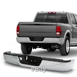 Chrome Polished Replacement Rear Bumper Assembly Kit For 09-18 Dodge Ram 1500