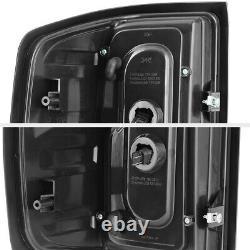 CyCLoP OPTiC TubE For 14-18 Chevy Silverado BLACK SMOKE LED Tail Light LH+RH