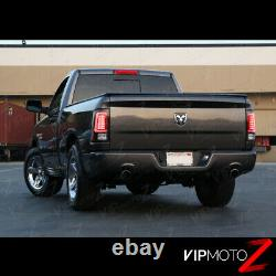 DARKEST SMOKE Fit 13-18 RAM 1500 2500 3500 LED Tail Lamps Lights Replacement