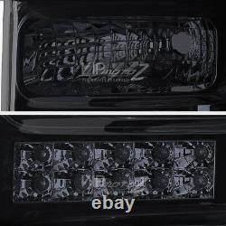 Dual Halo Angel Eye LED DRL Projector Head Lamp Light 08-10 Ford SuperDuty Truck