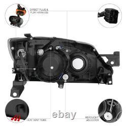 Fit 2008-2011 Subaru Impreza WRX STI 2.5 Outback BLACK Front Headlights Assembly