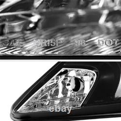 For 00-05 Toyota Celica GT GTS JDM Crystal Black Front Headlights Lamps Assembly