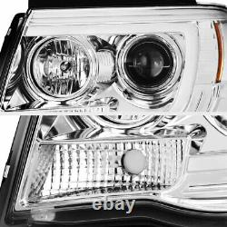 For 05-11 Toyota Tacoma Cyclop Optic Neon LED DRL Tube Projector Headlight Lamp