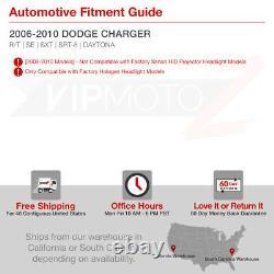 For 06-10 Dodge Charger SRT SE SXT DAYTONA Dark Smoke LED Halo Headlights Lamps