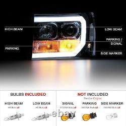 For 07-13 GMC Sierra Smoke OLED NEON TUBE Denali Style Headlight Replacement