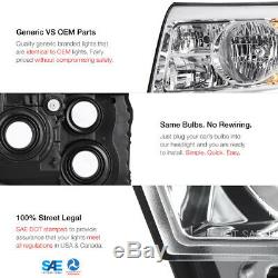 For 09-11 Honda Pilot Chrome Housing Headlight LH+RH Replacement Lamp Assembly