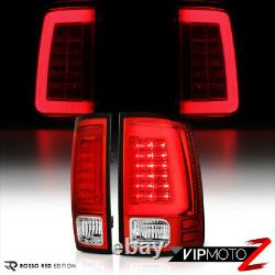 For 09-18 Dodge RAM 1500 2500 3500 TRON STYLE Neon Tube LED Tail Lights Lamps