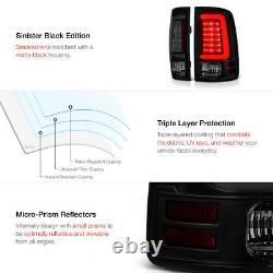 For 09-18 Dodge Ram 1500 2500 3500 Truck BLACK SMOKE LED Light Brake Tail Lamp