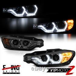 For 12-15 BMW 328i 325i 320i Sedan Titanium Smoke LCI Style LED Strip Headlight