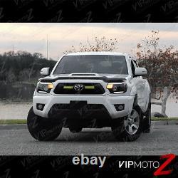 For 12-15 Toyota Tacoma TRIBAL Black LED Headlight TRD Pro X Runner Pre Runner
