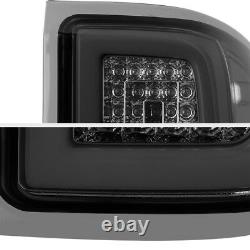 For 14-18 Chevy Silverado Smoked Lens OLED TUBE LED Tail Lights Assembly Pair