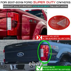 For 17-19 Ford SuperDuty witho BLIS Tail Light Brake Lamp Replacement L+R Assembly
