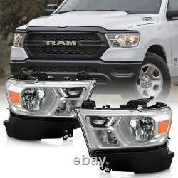 For 19-21 RAM 1500 Factory Style Replacement Headlight Lamp Assembly Left Right