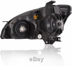 For 2002-2004 Nissan Altima Black Headlights Assembly Replacement Set LH RH