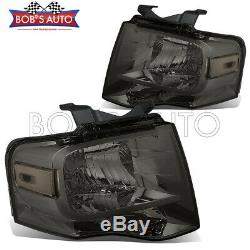 For Ford Expedition 07-14 Smoke Tinted Replacement Headlightss Assembly OE Style