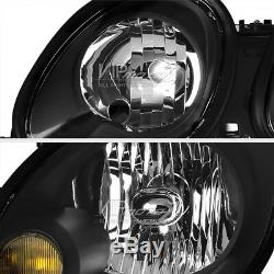 JDM Black Headlights Lamp Replacement Assembly Fit 1998-2005 Lexus GS Aristo 2JZ