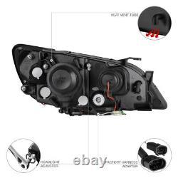 JDM SPEC For 2001-05 Lexus IS200 IS300 2JZ Black LED Halo Projector Headlights