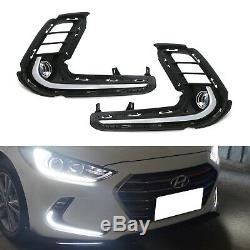 KDM Style Lower Bumper LED Daytime Running Lights For 2017-2018 Hyundai Elantra
