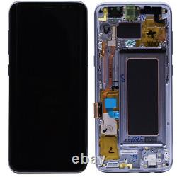 LCD Screen For Samsung Galaxy S8 Blue Replacement Touch Digitizer Frame Assembly