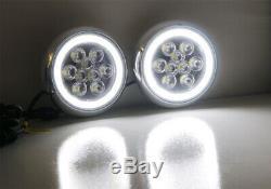 LED Rally Driving Light Halo Ring Daytime Running Lamps For MINI Cooper (Chrome)