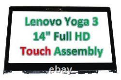 Lenovo Yoga 3 14 80JH OEM Replacement Touch Screen Digitizer + LCD Assembly New