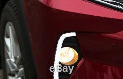 OEM Fog Lamp Bezel Replacement White/Amber LED Daytime Light Kit For 19-up RAV4