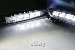 OEM Spec White LED Fog Light Kit with Bezel, Wiring For 2018-up Honda Accord Sedan