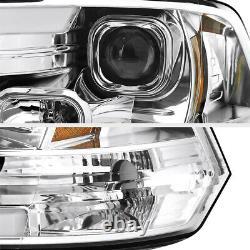 OLED TUBE For 09-18 Dodge RAM 1500 2500 3500 Chrome Projector Headlight Lamp
