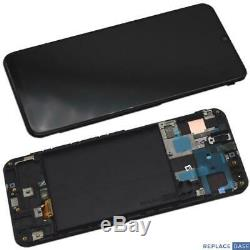 Replacement AMOLED Touch Screen Assembly With Frame For Samsung Galaxy A50 A505