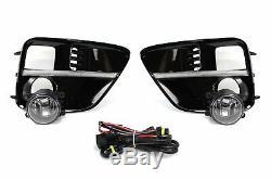 S4 LED Bezel Daytime Running Lights withHalogen Fog Lamp For 15-17 Subaru WRX/STi