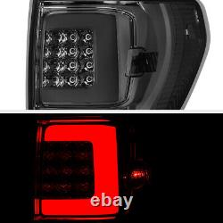 SMOKED LENS FiBer OpTic LED Tail Lights For 07-13 Toyota Tundra Pick Up Truck