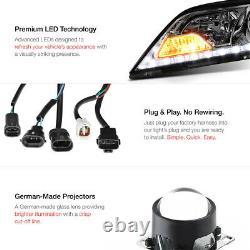 SMOKE LENS LED For 15-20 Toyota Sienna SE Headlight Assembly Replacment Pair